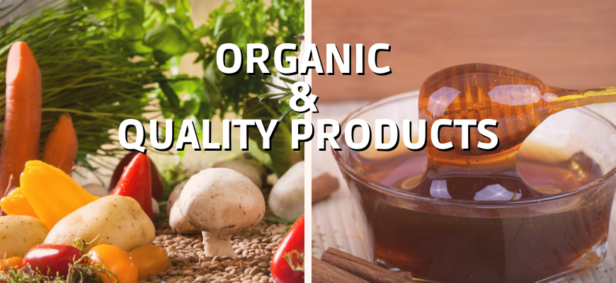 Organic products and quality products